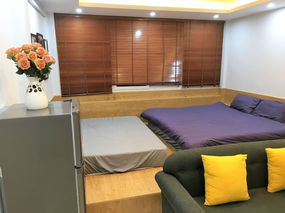 2 comfy beds can accommodate 3 persons