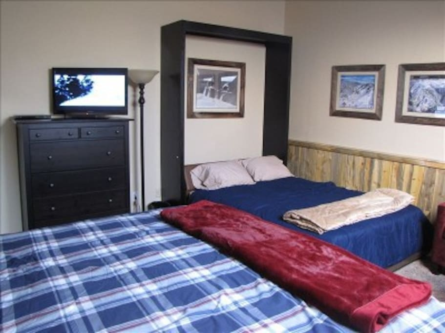The loft with the Queen size Murphy bed down.