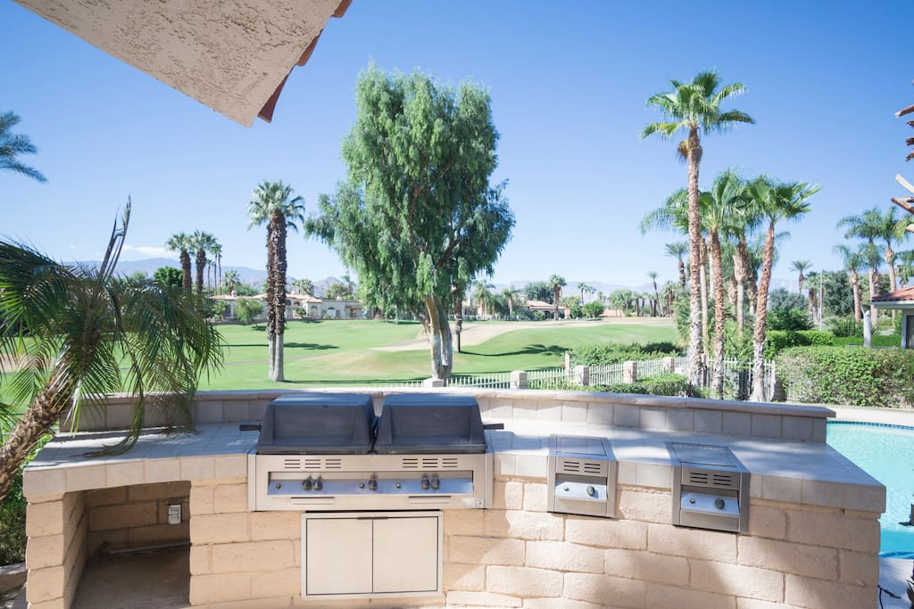 Grill up dinner while enjoying spectacular views.