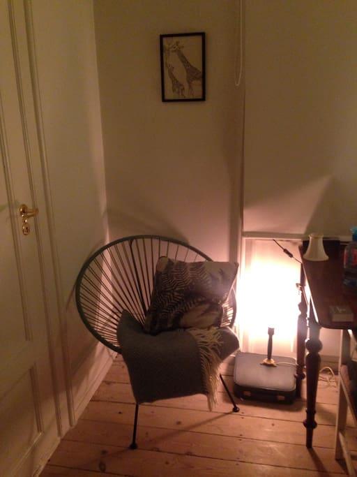 Comfy chair for planning the next adventure in Copenhagen