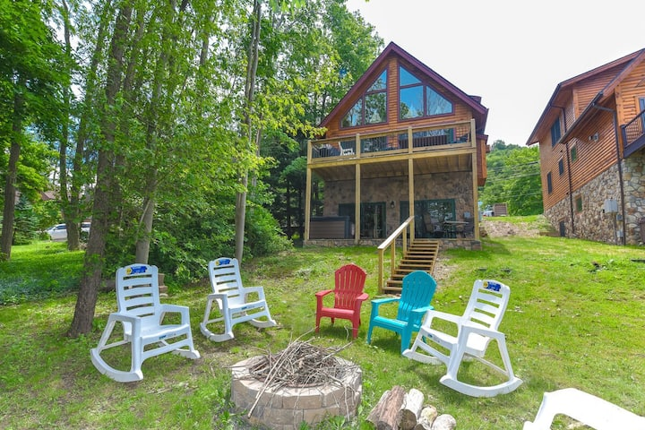 Lakefront Home w/Private Dock, Hot Tub, & 2 Gas Fireplaces!