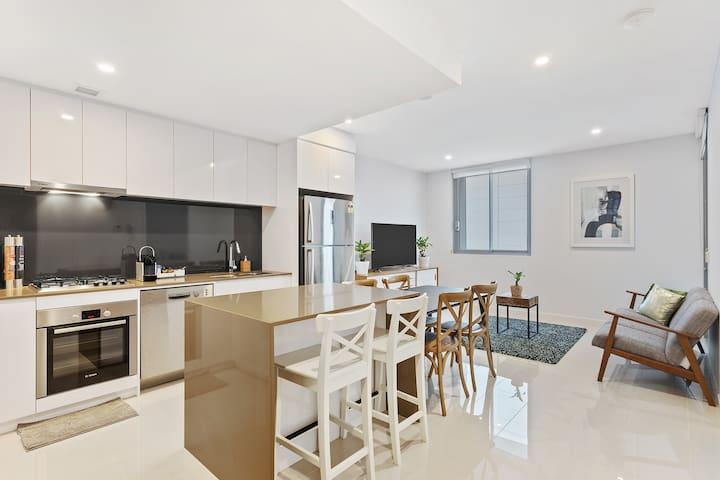 정결한 브리즈번 투베드룸 아파트 단기숙소