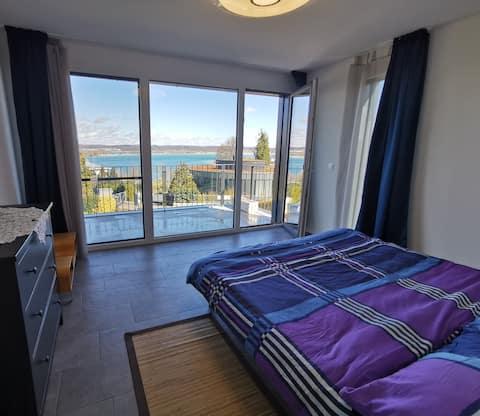 Wohnung mit exklusiver Aussicht auf den Bodensee