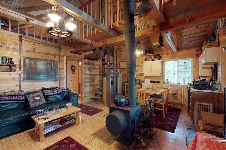 Dog-friendly cabin w/peaceful lake views, great outdoor space