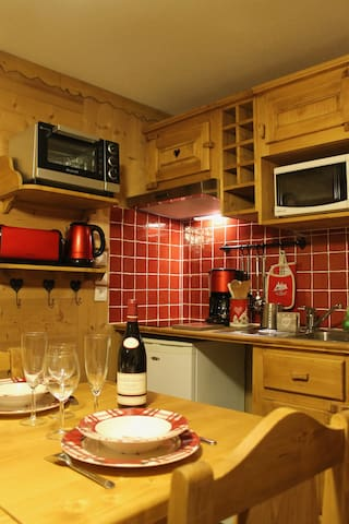 Charming 2 rooms cabin for 4/6 people in Megève - Megève - Apartment