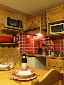 Charming 2 rooms cabin for 4/6 people in Megève - 梅傑夫