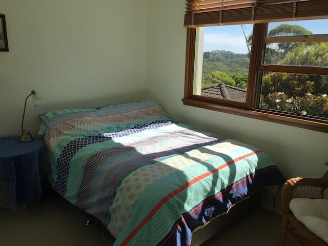 Bright bedroom, National Park view