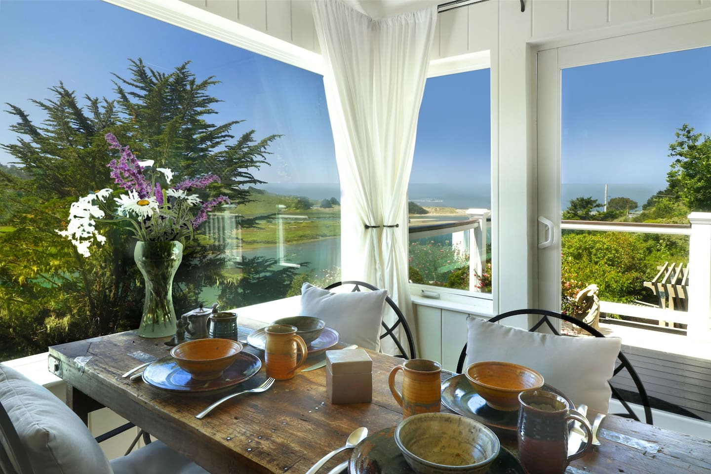 Sweeping views of the Russian River Estuary and the Pacific Ocean!