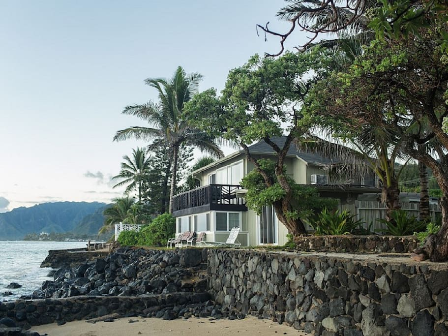 Enjoys amazing views of  mountains, ocean and plants that surround you