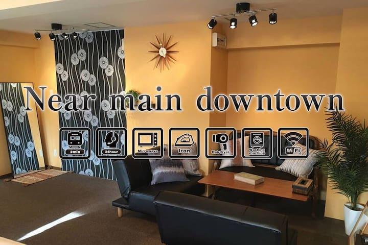 3min walk kyobashi,7min Umeda,12min shinsaibashi - Ōsaka-shi - Appartement