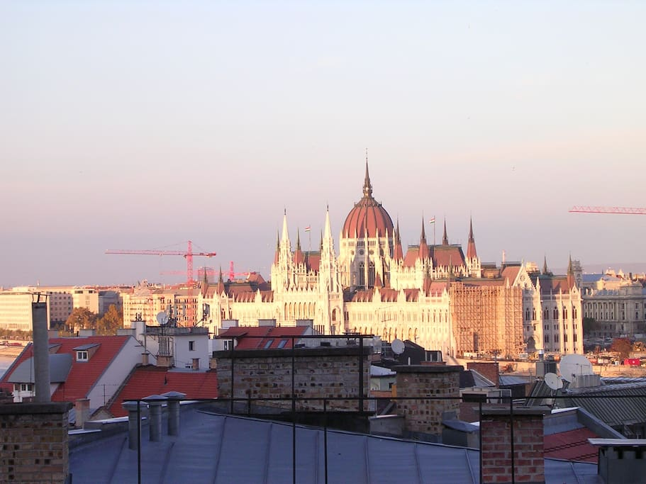 The Parliament of Hungary (window view)