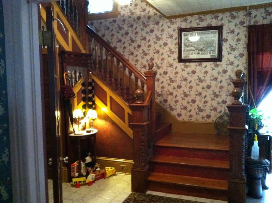 Stairwell in foyer