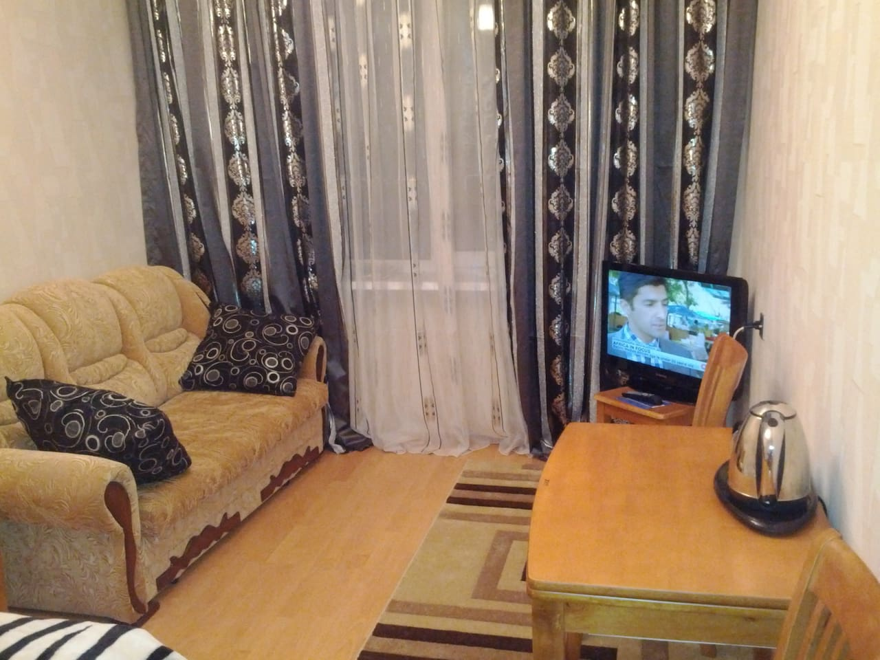 You have everything what you need for a nice stay in Baku. And keep informed watching TV:)))