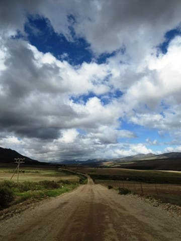 The road to the cabin, 19km gravel road