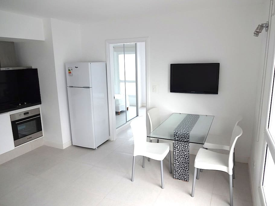 dining table with tv