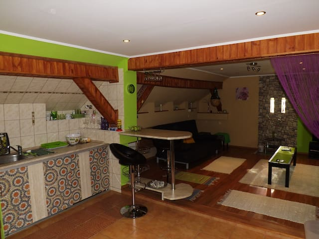 Kitchen and living-room