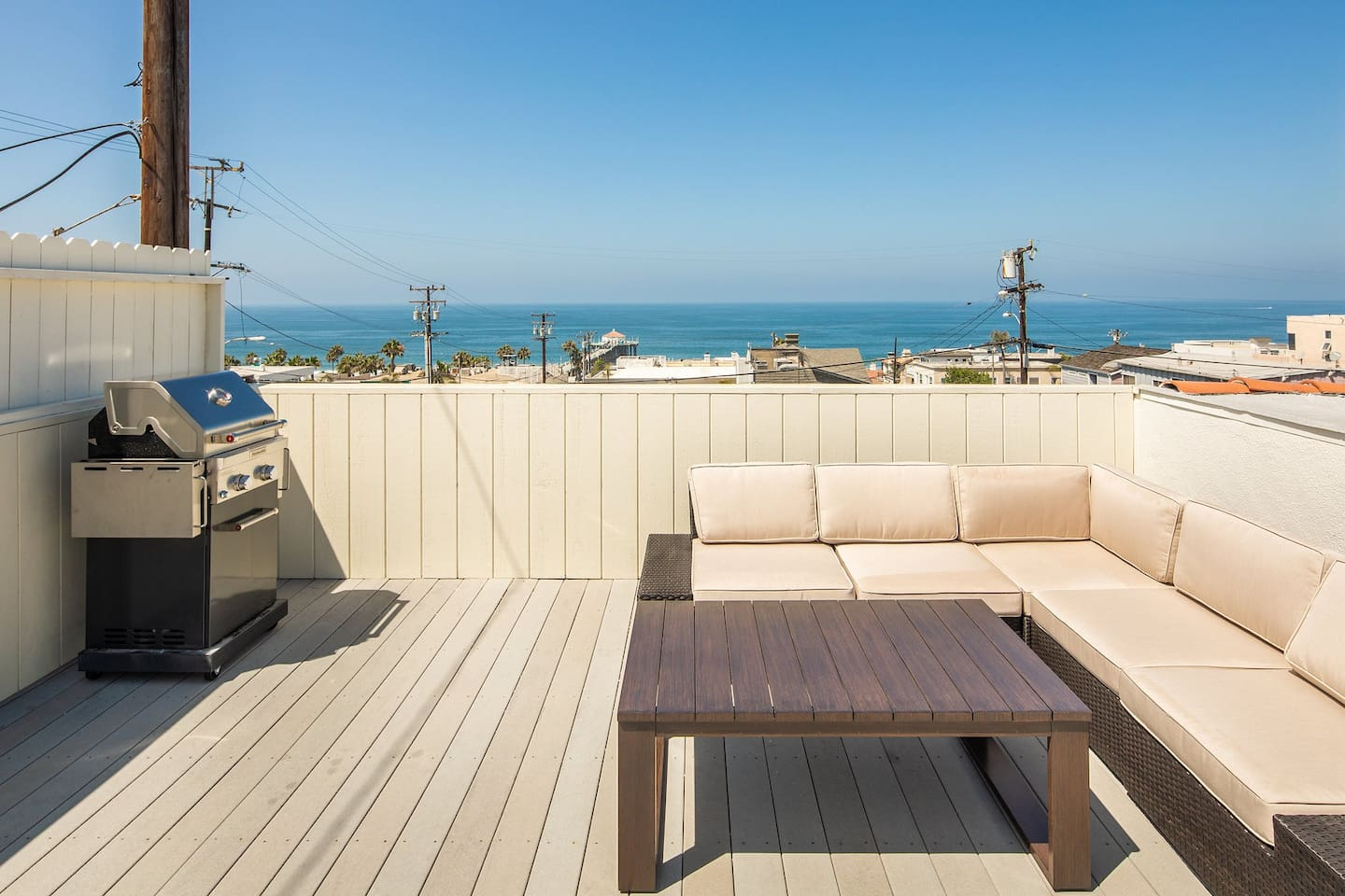 Beautiful 400 Square Foot Deck with Panoramic Ocean Views