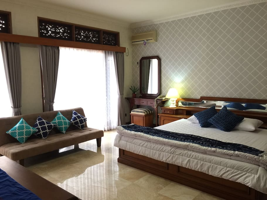 Master bedroom and has one sofa bed