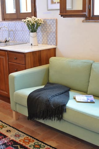 Relax with a good book on the comfortable lounge