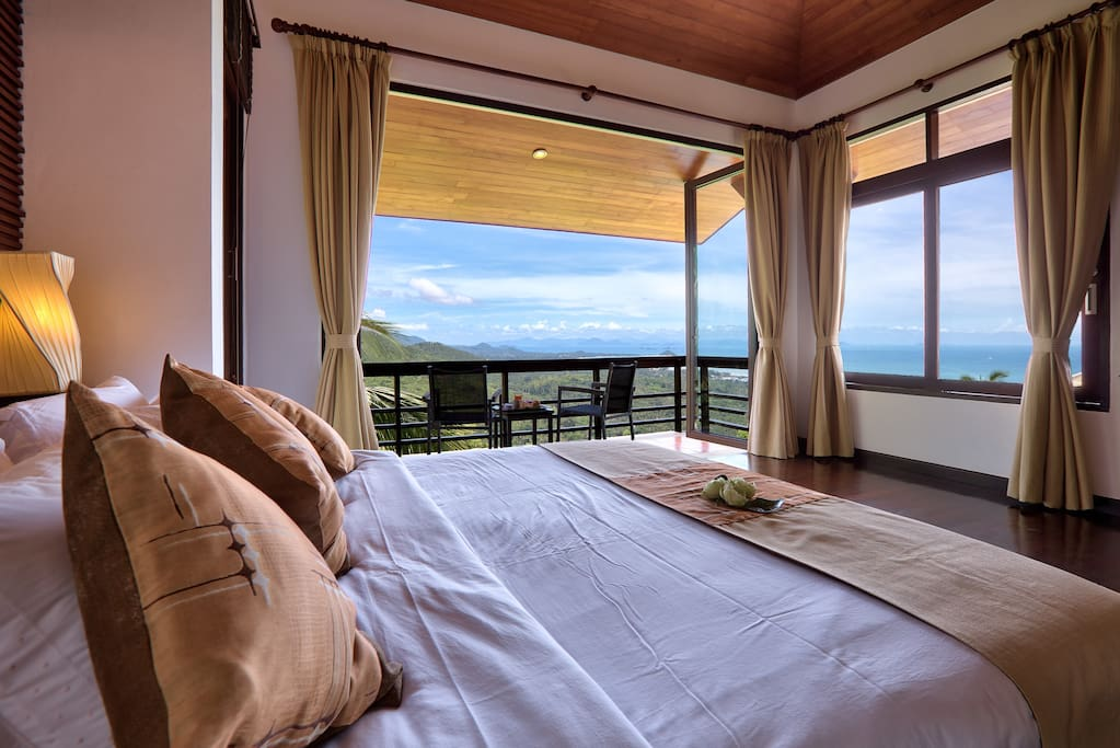 Master Bedroom View to the Five Islands and beyond.