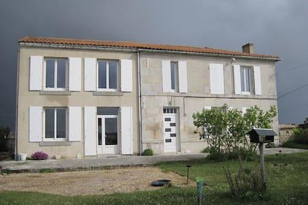 Maison entourée  de vignes - Saint-Fort-sur-le-Né - บ้าน