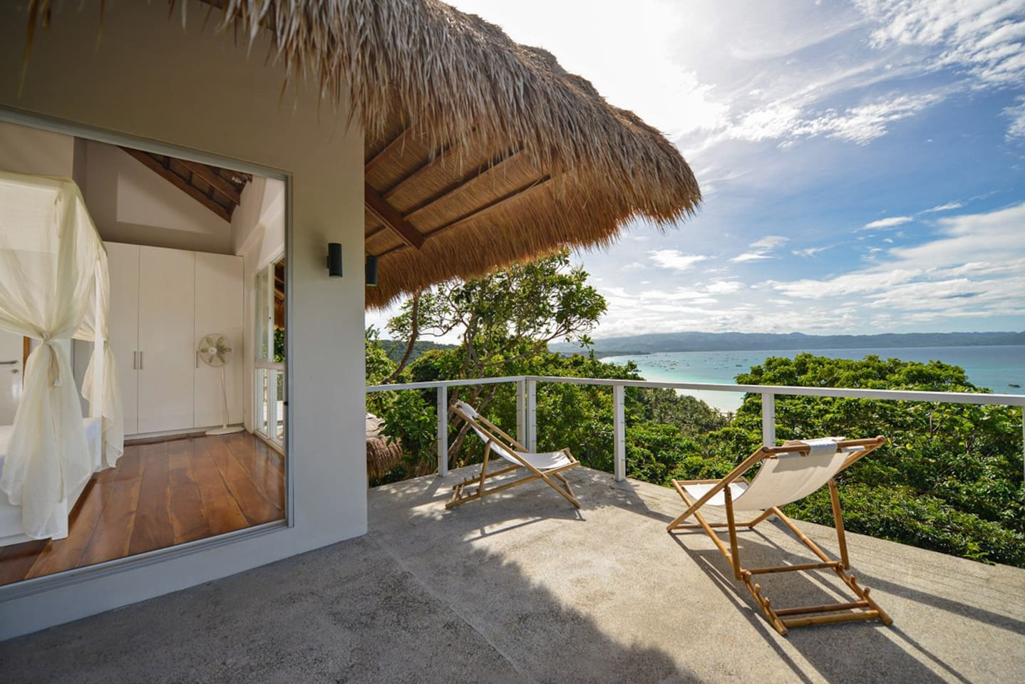 This villa has the fantastic view over the famous Boracay white beach from every room