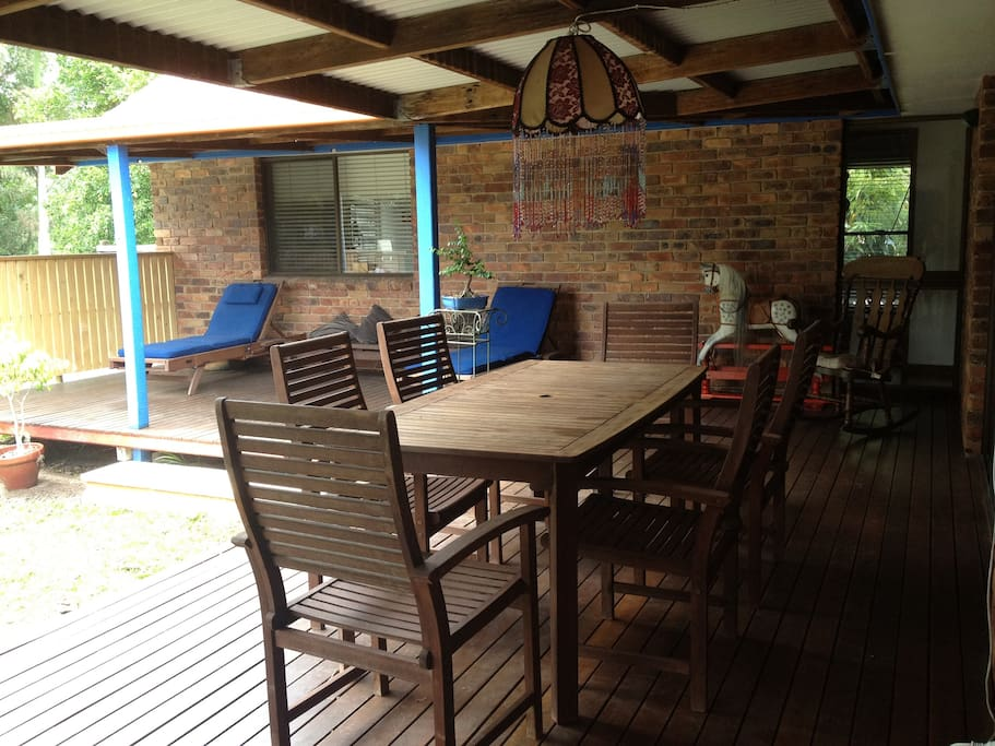 Deck with sun lounges