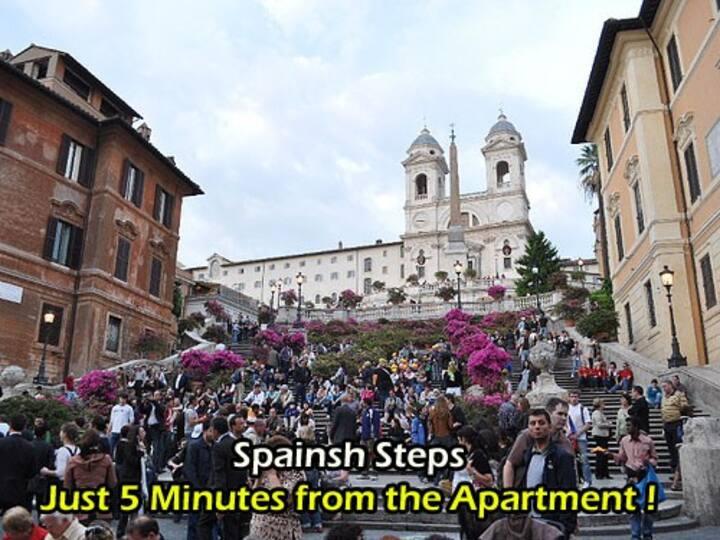 Apartment in Hearth of Rome Center Near Via Corso