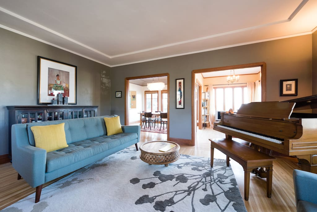 Formal living room with baby grand.