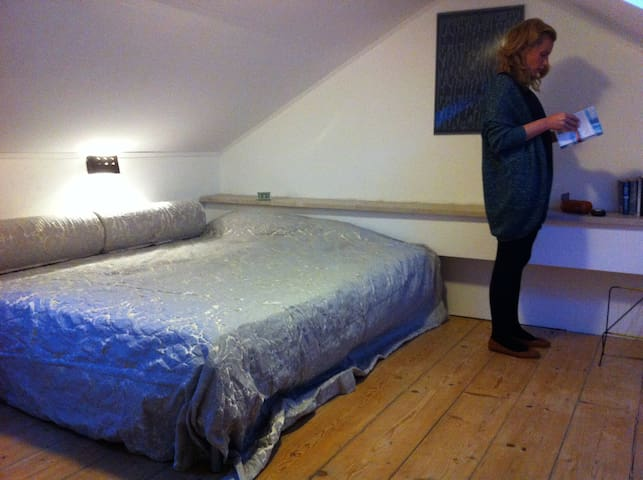 Sleeping room is at the top floor