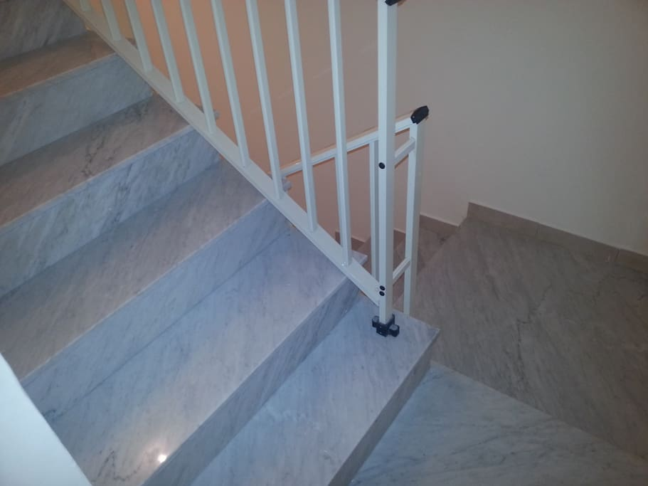 Marble stairs to guest rooms