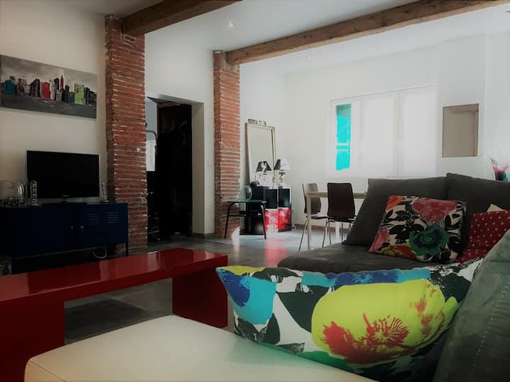 Maison 120m² équipée 3 ch 6 couchages 8min plage