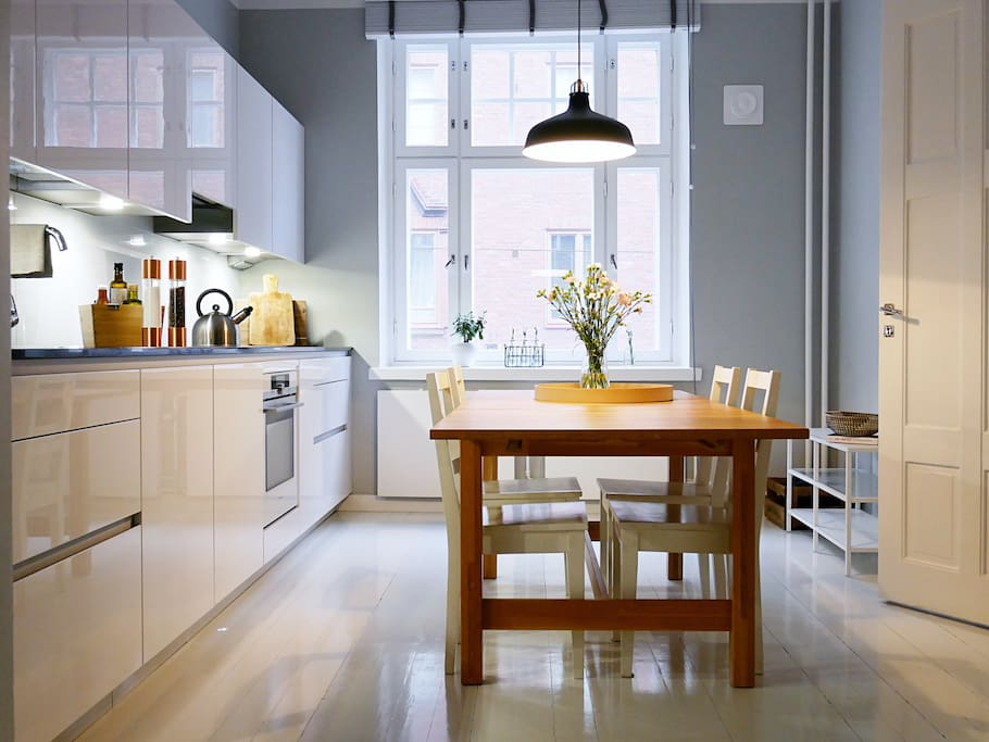Modern kitchen with all equipments you might need.