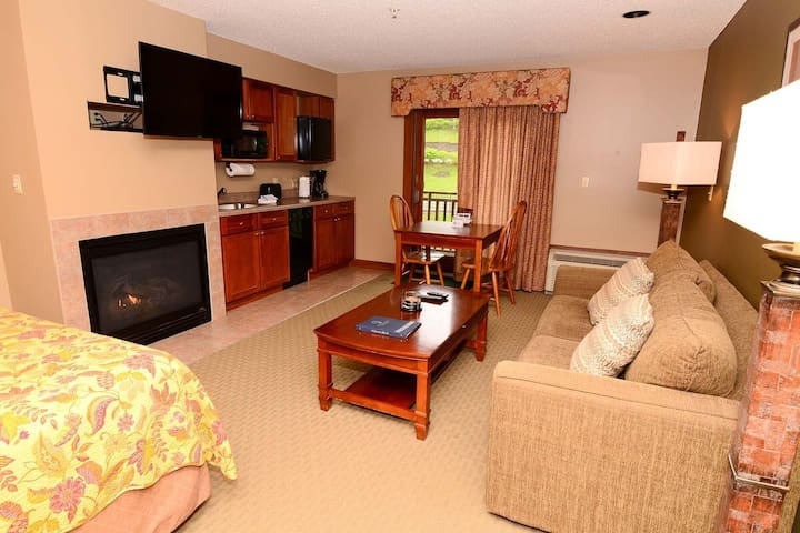 A216- Studio standard view suite, includes an a balcony & free WiFi!