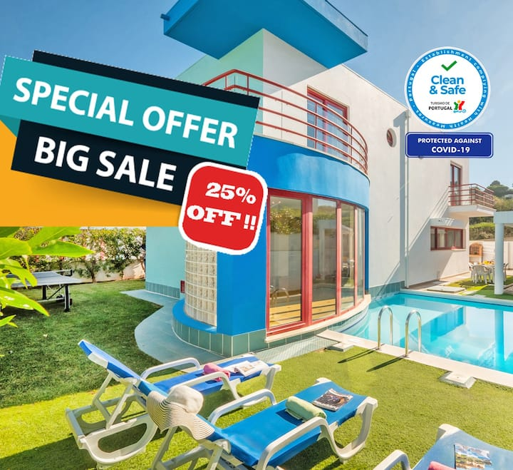 25% OFF!!BOOK NOW! MODERN VILLA,HEATABLE POOL,WIFI