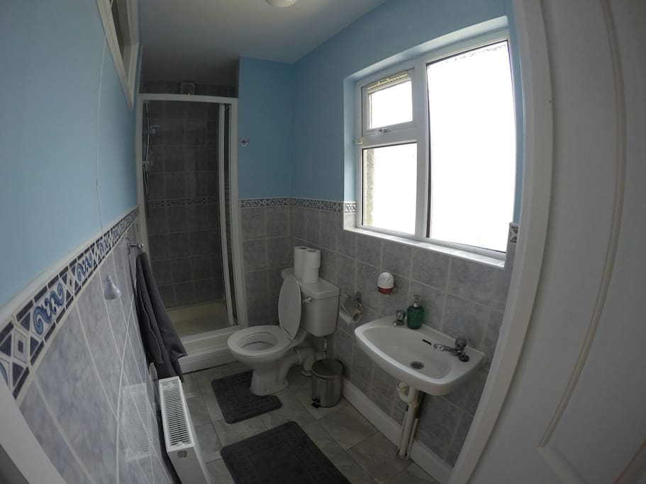bathroom with shower. (better view)