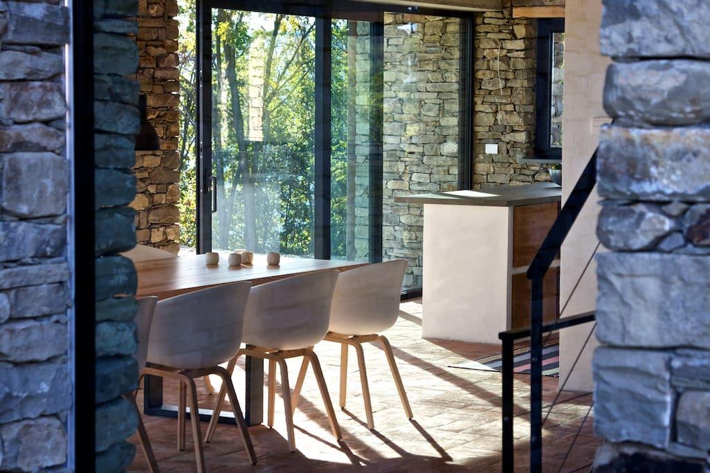 Luxury designer living room / kitchen.