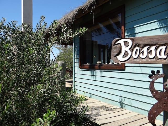 Entrance into Bossanova, there are lots of plants to help create privacy inbetween the cabins
