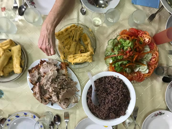 Enjoy a traditional cuban meal