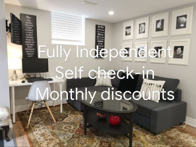 Elegant. Independent. 1 Bedroom Basement Apartment