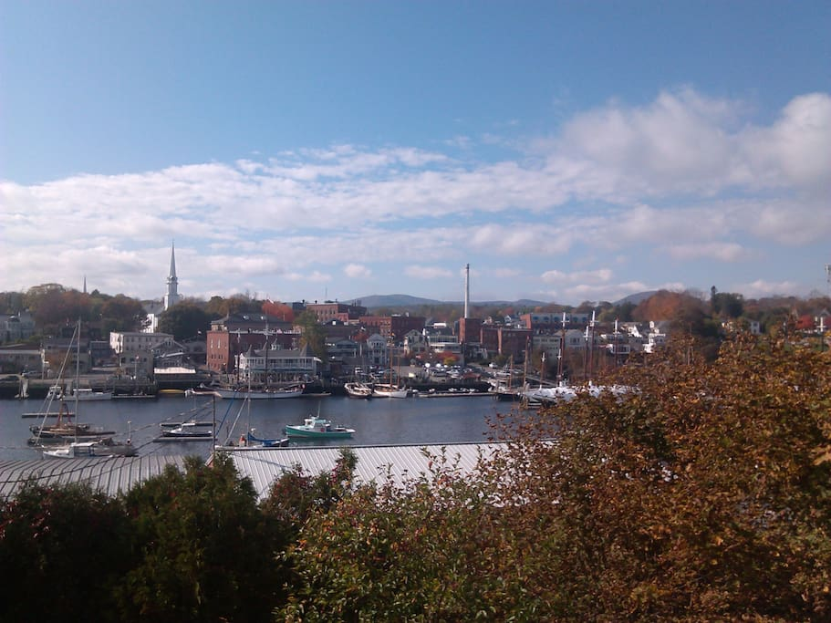 Enjoy watching the boats come and go, as you enjoy the Camden Hills and Harbor view!