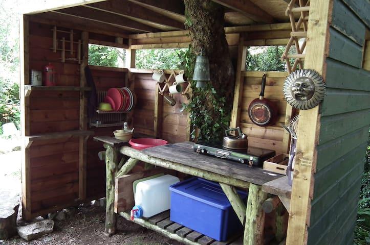 Yurt kitchen.