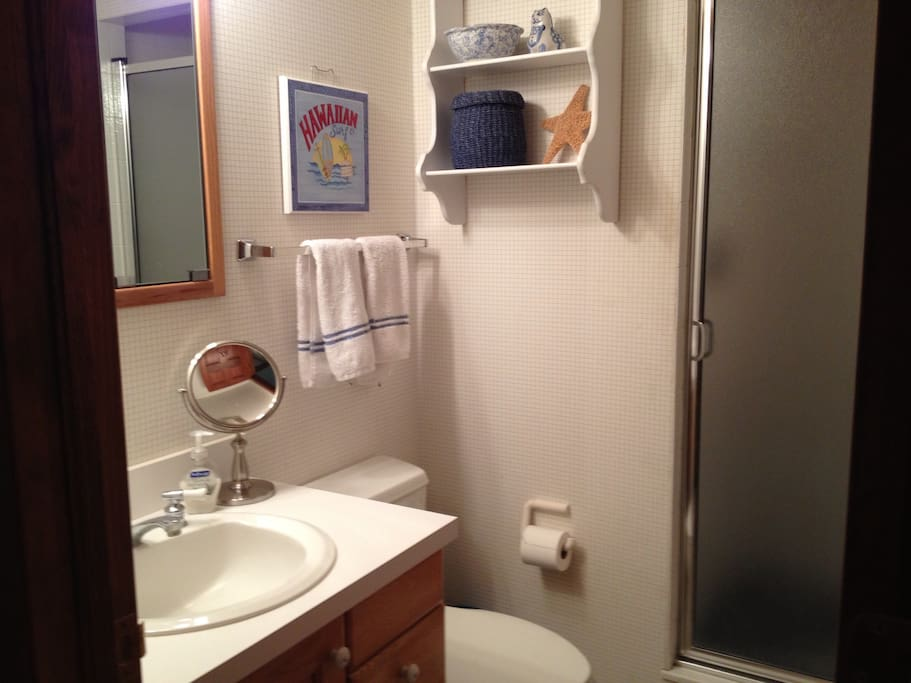 Bathroom with shower (no tub)