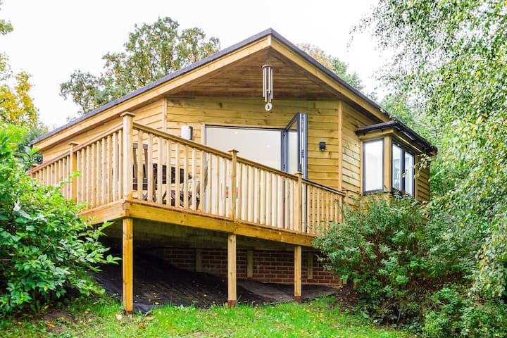 Amazing woodland lodge near Cobham - Surrey - Alpehytte
