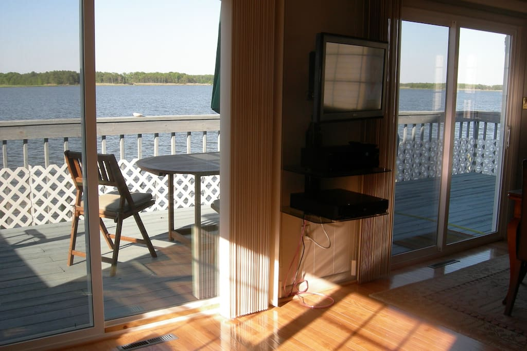 View of the water from the living room