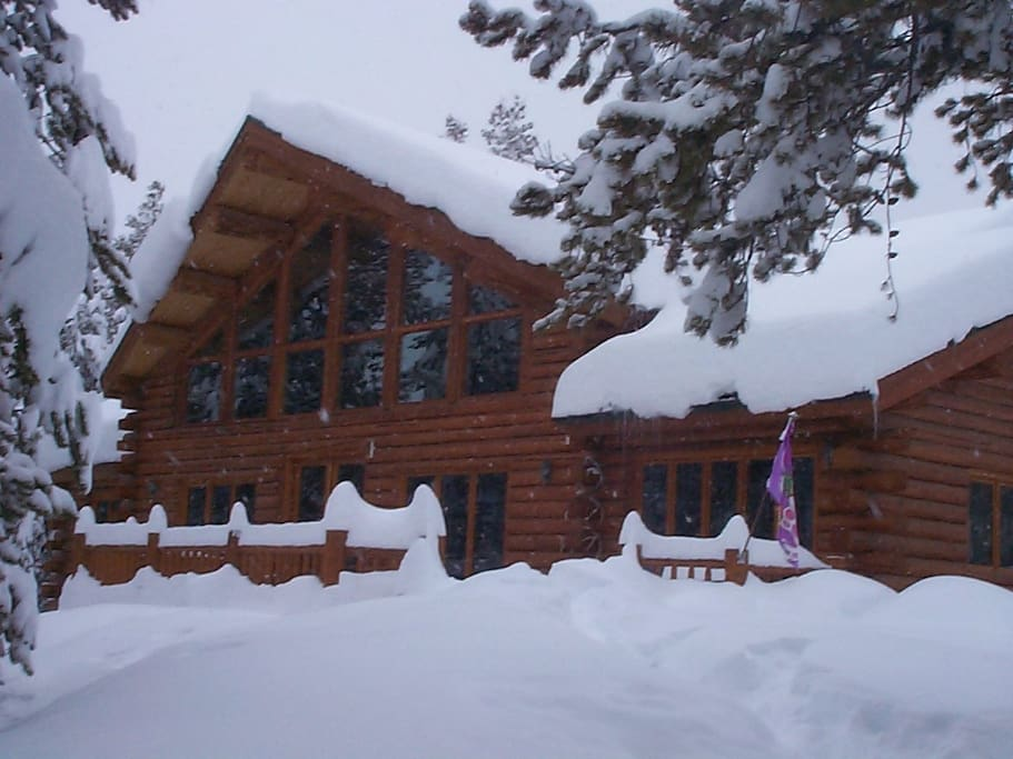 Our home in winter after a storm