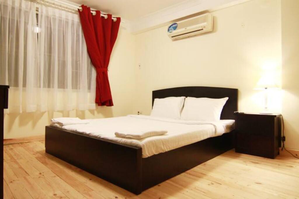 Triple room at backpacker's hostel