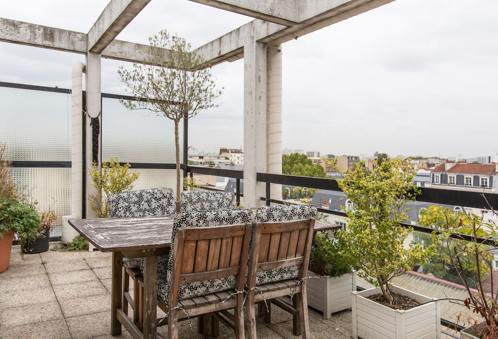 Grand t2 ideal paris terrasse wifi appartements louer asni res sur seine le de france - Jardin suspendu terrasse asnieres sur seine ...