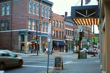Get to know Lawrenceville, Pittsburgh's favorite neighborhood. The Apartment is quite unique on the main artery of Butler Street..walkable and welcoming Pittsburgh's best restaurants located around the house.
