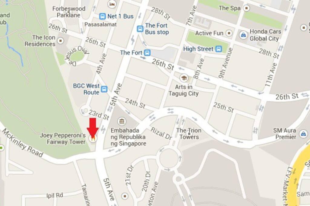 Address: Fairway Tower, 5th Avenue corner McKinley Road, Bonifacio Global City